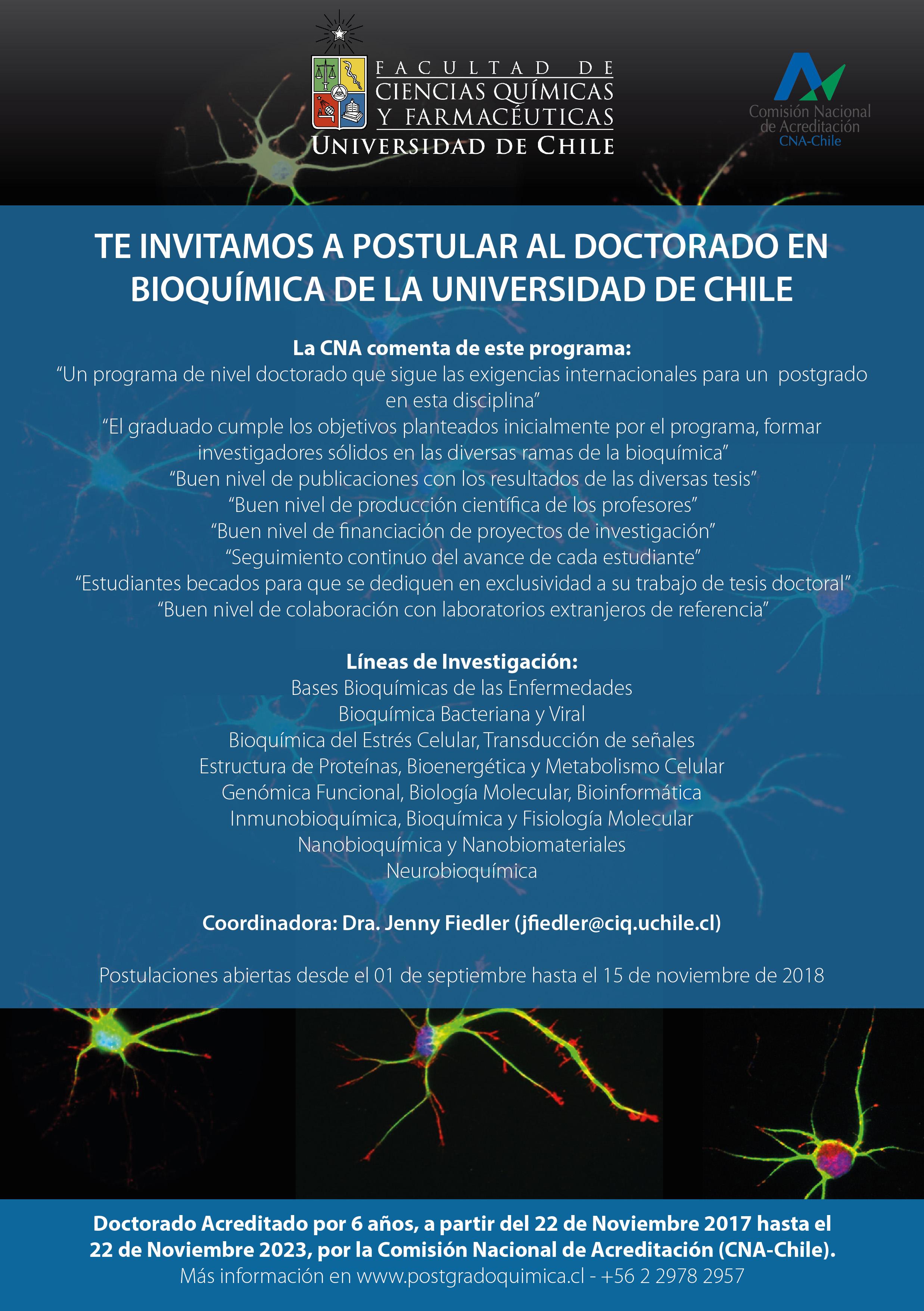 Difusión Doctorado en Bioquímica